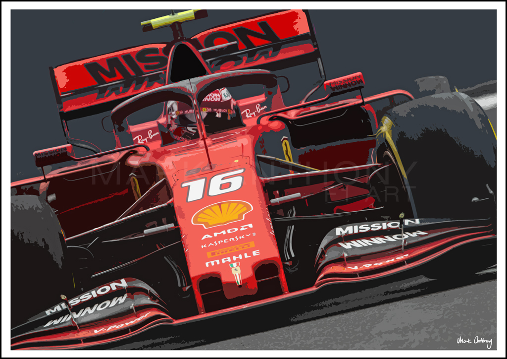 Charles Leclerc Ferrari Sf90 2019 Formula 1 Car